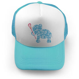 Girls Lacrosse Trucker Hat - Lax Elephant