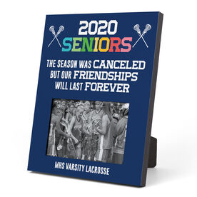 Girls Lacrosse Photo Frame - 2020 Season Was Canceled But Friendships Last Forever