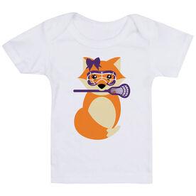 Girls Lacrosse Baby T-Shirt - Lax Fox