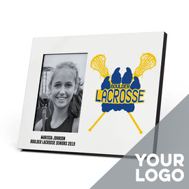 Girls Lacrosse Photo Frame - Custom Logo