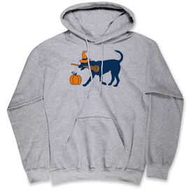 Girls Lacrosse Hooded Sweatshirt - Lula Witch Dog