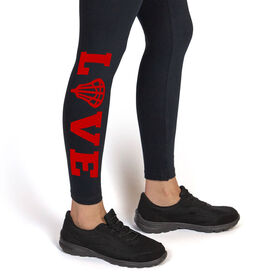 Girls Lacrosse Leggings LOVE with Lacrosse Stick Head