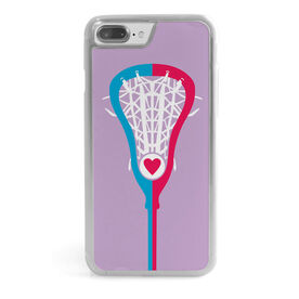Girls Lacrosse iPhone® Case - Stick Heart
