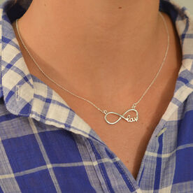 Livia Collection Sterling Silver Lacrosse Infinity Necklace