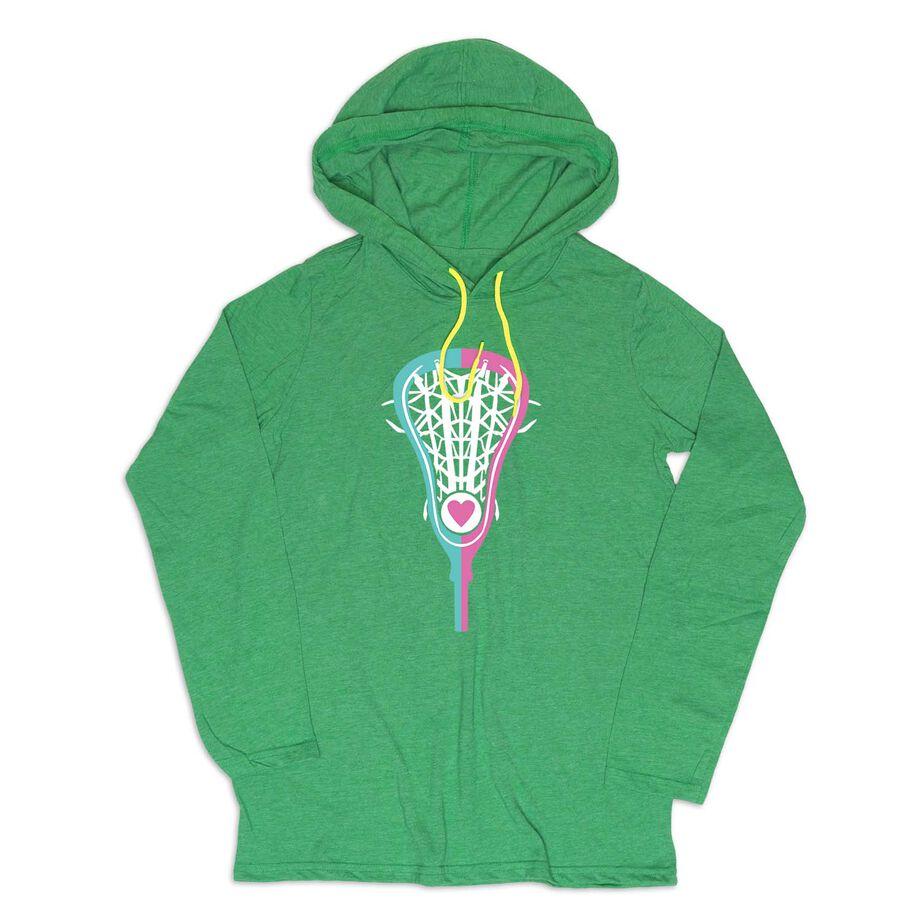 Girls Lacrosse Lightweight Hoodie - Lacrosse Stick Heart