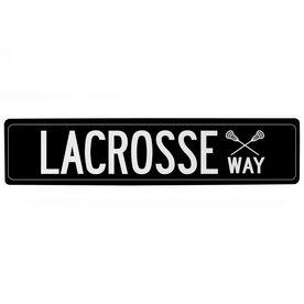 "Lacrosse Aluminum Room Sign - Lacrosse Way (4""x18"")"