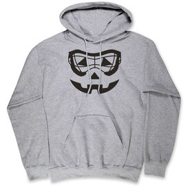 Girls Lacrosse Hooded Sweatshirt - Lacrosse Goggle Pumpkin Face