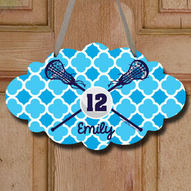 Personalized Lacrosse Sticks And Ball Girl Decorative Cloud Sign