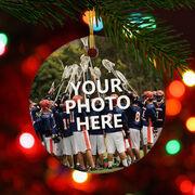 Lacrosse Porcelain Ornament Your Photo