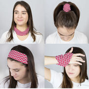 Multifunctional Headwear - Chevron Pink RokBAND