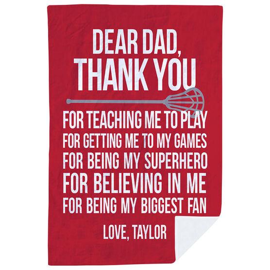 Lacrosse Premium Blanket - Dear Dad