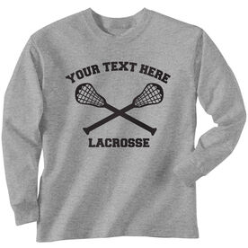 Lacrosse Custom Long Sleeve T-Shirt