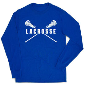 Girls Lacrosse Tshirt Long Sleeve - Crossed Girls Sticks