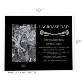 Girls Lacrosse Photo Frame - Lacrosse Dad Poem