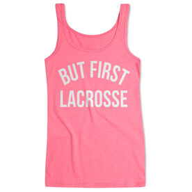 Lacrosse Women's Athletic Tank Top - But First Lacrosse
