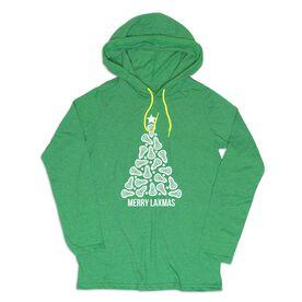 Girls Lacrosse Lightweight Hoodie - Merry Laxmas Tree