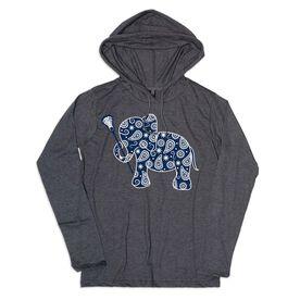 Girls Lacrosse Lightweight Hoodie - Lax Elephant