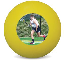 Personalized Add Your Photo Lacrosse Ball (Yellow Ball)