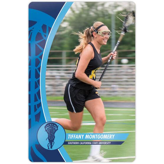 "Girls Lacrosse 18"" X 12"" Aluminum Room Sign - Player Photo"
