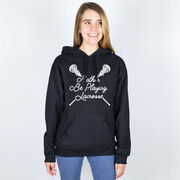 Girls Lacrosse Hooded Sweatshirt - Rather Be Playing Lacrosse
