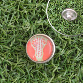Lacrosse Stick Head Peach SportSNAPS Charm