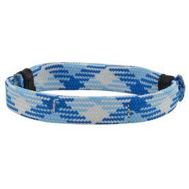 Lacrosse Shooting String Bracelet Carolina Blue Argyle Adjustable Shooter Bracelet