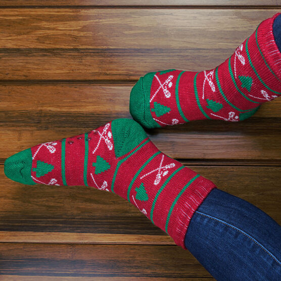 Lacrosse Slipper Socks with Sherpa Lining (Christmas)
