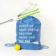 Girls Lacrosse Sport Pack Cinch Sack - Favorite Fall Things