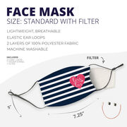 Girls Lacrosse Face Mask - Love Lax Heart