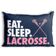 Girls Lacrosse Pillowcase - Eat Sleep Lacrosse