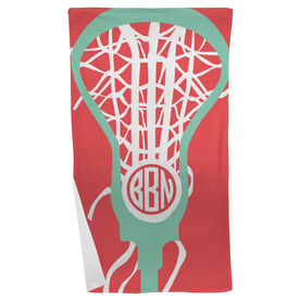 Lacrosse Beach Towel Monogrammed Lax Is Life