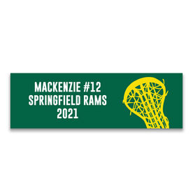 "Girls Lacrosse 12.5"" X 4"" Removable Wall Tile - Personalized Team"