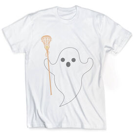 Girls Lacrosse Vintage T-Shirt - Ghost with Lacrosse Stick