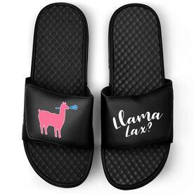 Girls Lacrosse Black Slide Sandals - Lama Lax