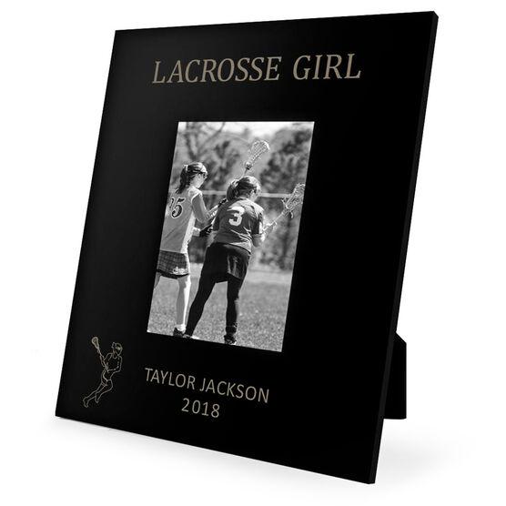 Girls Lacrosse Engraved Picture Frame - Lacrosse Girl