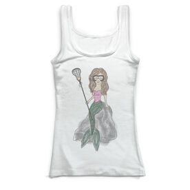 Girls Lacrosse Vintage Fitted Tank Top - Lacrosse Mermaid