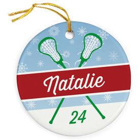 Girls Lacrosse Christmas Ornaments  LuLaLax