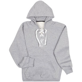 "Girls Lacrosse Sport Lace Sweatshirt - ""Lax"" Girl (Stick Figure-w/word)"