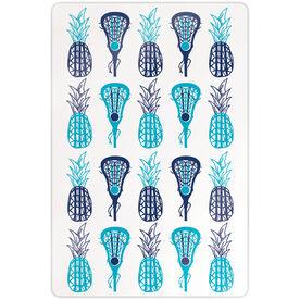 "Girls Lacrosse 18"" X 12"" Aluminum Room Sign - Pineapples"