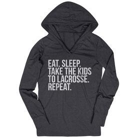 Lacrosse Lightweight Performance Hoodie - Eat Sleep Take The Kids To Lacrosse