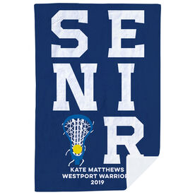 Girls Lacrosse Premium Blanket - Personalized Senior