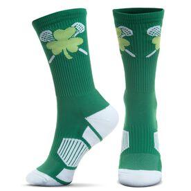 Lacrosse Woven Mid-Calf Socks - Shamrock Crossed Sticks