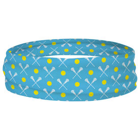 Girls Lacrosse Multifunctional Headwear - Crossed Sticks and Ball Pattern RokBAND