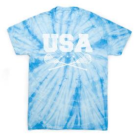 Girls Lacrosse Short Sleeve T-Shirt - USA Girls Lacrosse Tie Dye