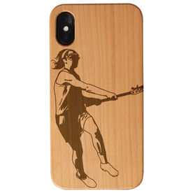 Girls Lacrosse Engraved Wood IPhone® Case - Player