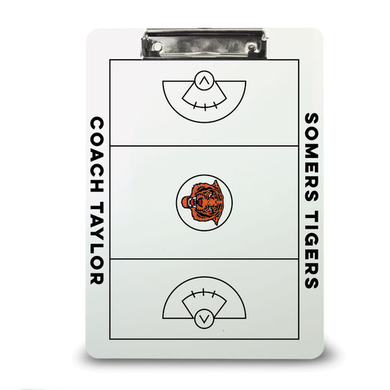 ChalkTalk Girls Lacrosse Custom Coaches Dry Erase Clipboard