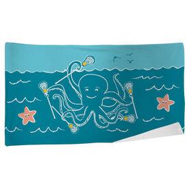 Lacrosse Beach Towel Laxtopus