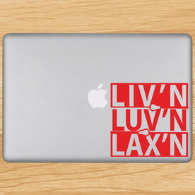 Liv'n Luv'n Lax'n Removable LulaGraphix Laptop Decal