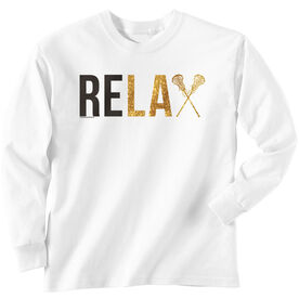 Girls Lacrosse Long Sleeve T-Shirt - Relax