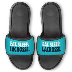 Girls Lacrosse Repwell® Slide Sandals - Eat. Sleep. Lacrosse.